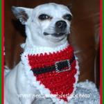 Christmas Santa Dog Bandanna ~ Sara Sach - Posh Pooch Designs
