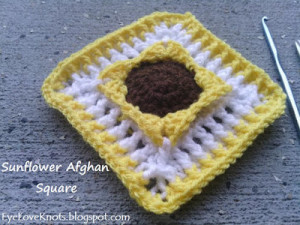 Sunflower Afghan Square ~ EyeLoveKnots