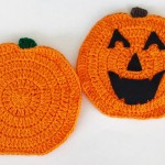 Falling Pumpkin Dishcloth & Hot Pad ~ Aurora Suominen – DragonFlyMomof2 Designs