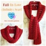 Fall-In Love Infinity Scarf ~ Erangi Udeshika – Crochet For You
