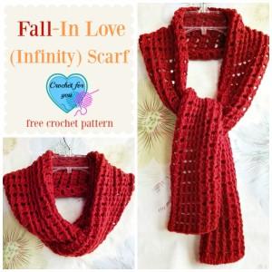 Fall-In Love Infinity Scarf ~ Erangi Udeshika - Crochet For You
