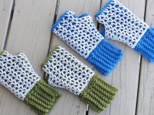 Claire Finger less Mittens ~ Crochet Dreamz