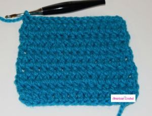 Double Crochet Between Stitches ~ American Crochet