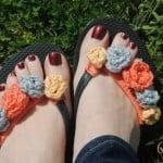 Flower Power Flip Flops ~ Lorene Eppolite - Cre8tion Crochet