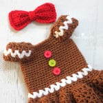 Gingerbread Girl Dress & Bow ~ Repeat Crafter Me