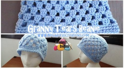 Free Crochet Pattern For Lace Beanie : Granny Tears Beanie ~ FREE Crochet Pattern