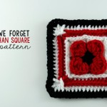 "Lest We Forget - 6"" Afghan Square ~ Oombawka Design"