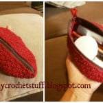 Handy Oval Makeup Purse ~ Crochet and Other Stuff