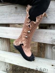 Mara Leg Warmer Spats ~ Lisa Jelle - Cre8tion Crochet