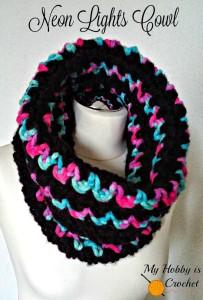 Neon Lights Cowl ~ My Hobby is Crochet