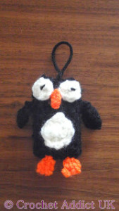 Penguin Charm Decoration ~ Crochet Addict