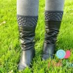 Peekaboo Picot Boot Cuffs ~ Lisa Egan – Cre8tion Crochet
