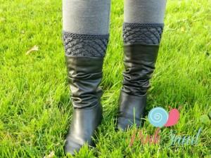 Peekaboo Picot Boot Cuffs ~ Lisa Egan - Cre8tion Crochet