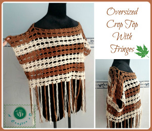 Oversized Crop Top with Fringes ~ Maz Kwok's Designs