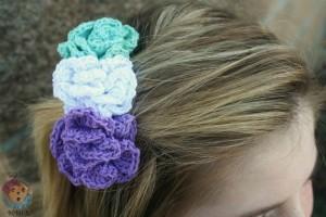 Pixie Blossoms Hair Comb ~ Sick 'Lil Monkeys - Cre8tion Crochet