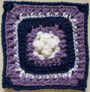 Raised Bunchberry Square ~ Marie Segares/Underground Crafter