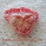 Chain-Less Foundation Heart Headband ~ Elisabeth Spivey - Calleigh's Clips & Crochet Creations