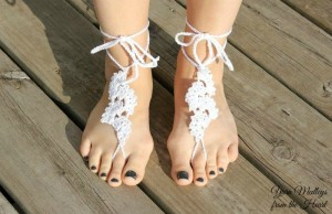 Spring Fan Barefoot Sandals ~ Nondas Hensley - Cre8tion Crochet