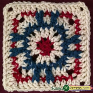 Red Eye Square ~ Stitches 'N' Scraps