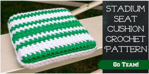 Stadium Seat Cushion Free Crochet Pattern