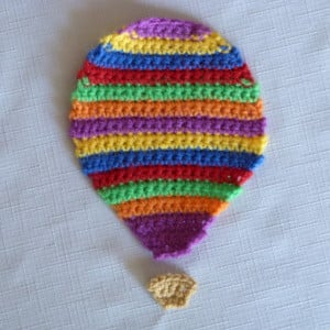 Striped Hot Air Balloon Applique ~ Amy - Crochet Spot