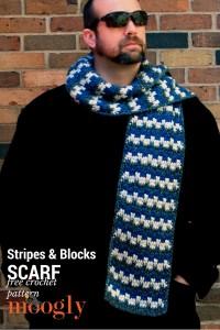 Stripes and Blocks Scarf ~ Moogly