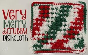 Very Merry Scrubby Dishcloth ~ Oombawka Design