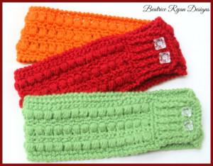 Whimsical Warmth Headband - Version II ~ Beatrice Ryan Designs