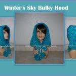 Winter's Sky Bulky Hood ~ Sara Sach - Posh Pooch Designs