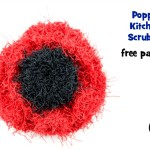 Poppy Kitchen Scrubby ~ Oombawka Design