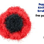 Poppy Kitchen Scrubby ~ Oombawka Design