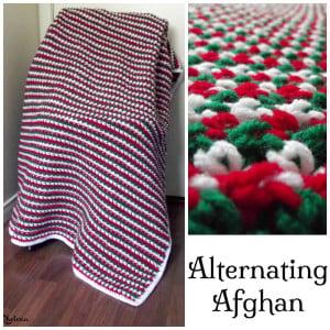 Alternating Afghan ~ Rhelena - CrochetN'Crafts