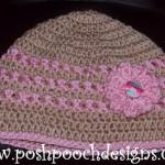 Ann's Pink Ribbon Chemo Beanie ~ Sara Sach - Posh Pooch Designs
