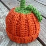 Baby Pumpkin Crochet Beanie ~ Danyel Pink – Favecrafts