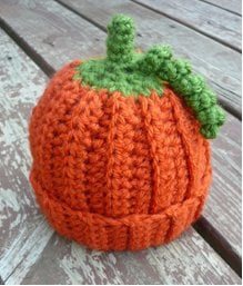 Baby Pumpkin Crochet Beanie ~ Danyel Pink - Favecrafts