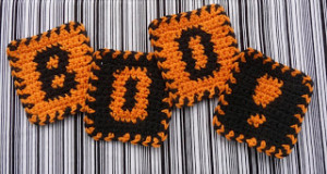 Boo Coasters ~ Whiskers & Wool