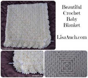 Unique Crochet Baby Shawl Blanket ~ Free Crochet Patterns and Designs by LisaAuch.