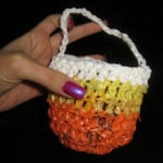Halloween Candy Corn Goody Bag ~ Carol Cox - Crochet Spot