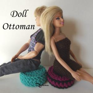 Doll Ottoman ~ Rhelena - CrochetN'Crafts
