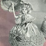 Rose Pin Cushion Doll ~ Free Vintage Crochet