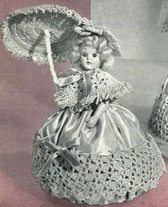 Rose Pin Cushion Doll ~ Free Vintage Crochet