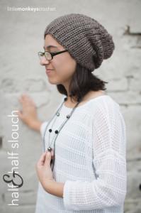 The Half 'N Half Slouch ~ Rebecca Langford - Little Monkeys Crochet