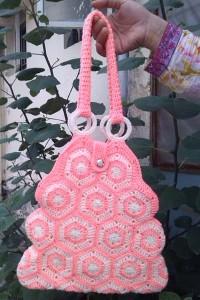 Crochet Hexagon Handbag ~ aamragul - Crochet/Crosia Home