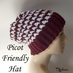Picot Friendly Hat ~ Rhelena - CrochetN'Crafts