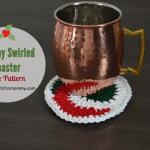 Holiday Swirled Coaster ~ The Stitchin' Mommy