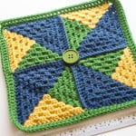 Pinwheel Afghan Square ~ One Dog Woof