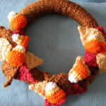 Candy Corn Wreath ~ Donna's Crochet Designs