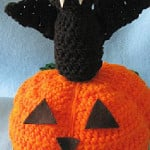 Bat Pumpkin Decoration ~ Donna's Crochet Designs