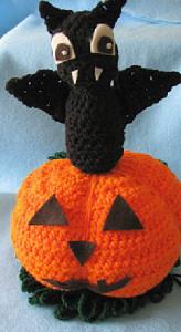 Bat Pumpkin Decoration ~ Donna's Crochet Designs