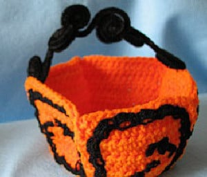 Halloween Candy Basket ~ Donna's Crochet Designs